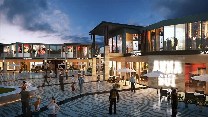 Khu trung tâm thương mại dư án 6 Miles Lăng Cô Resort
