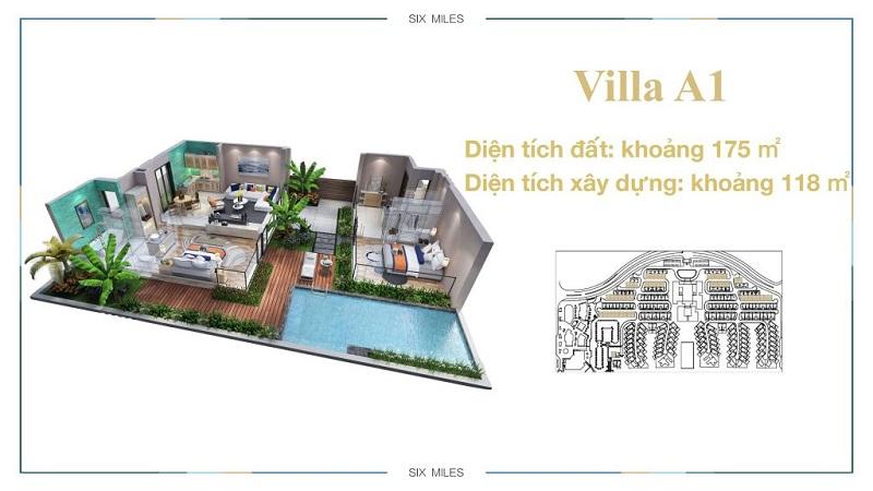 Mẫu Villa A1 dự án 6 Miles Lăng Cô Resort - Huế