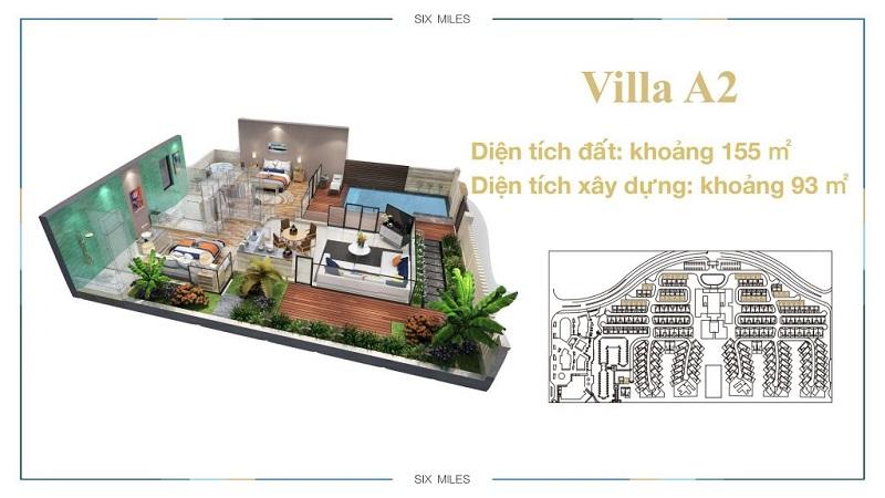 Mẫu Villa A2 dự án 6 Miles Lăng Cô Resort - Huế