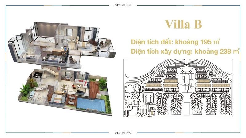 Mẫu Villa B dự án 6 Miles Lăng Cô Resort - Huế