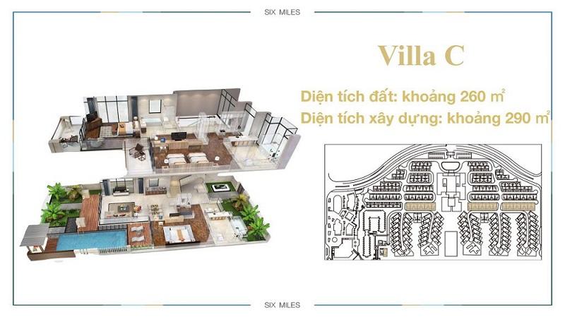 Mẫu Villa C dự án 6 Miles Lăng Cô Resort - Huế