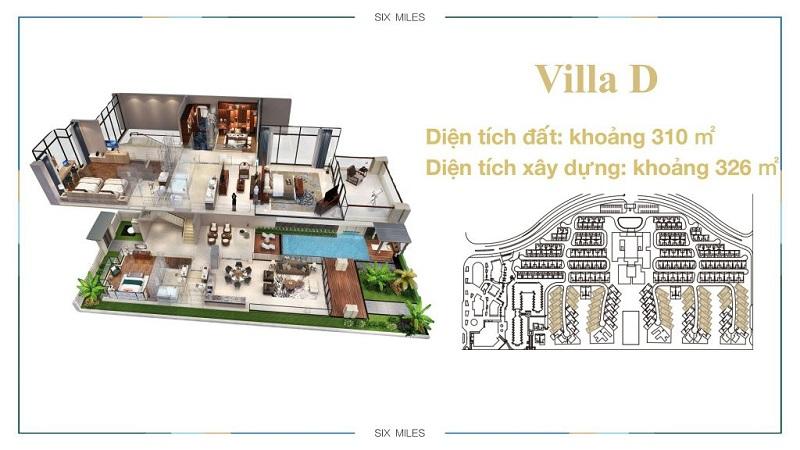 Mẫu Villa D dự án 6 Miles Lăng Cô Resort - Huế