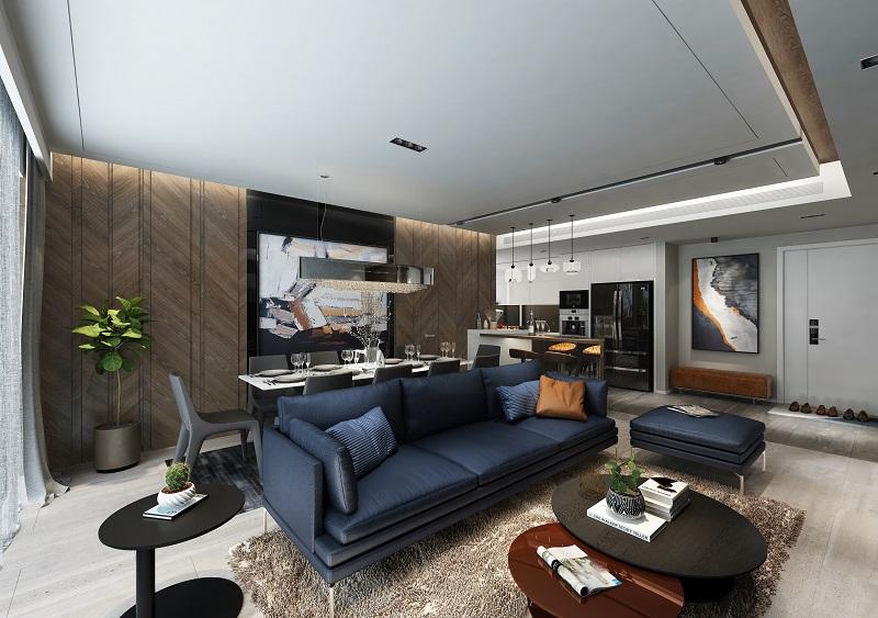 Nội thất phòng khách 2 dự án chung cư Sunshine Golden River - Ciputra Tây Hồ