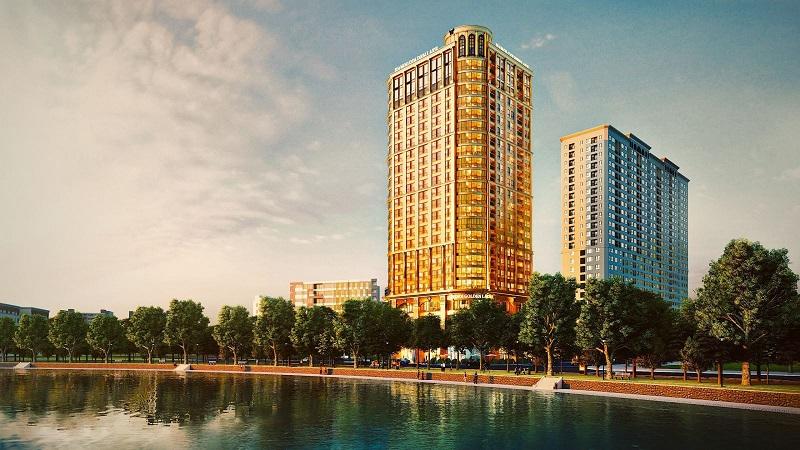 Phối cảnh 2 dự án căn hộ khách sạn Golden Lake B7 Giảng Võ