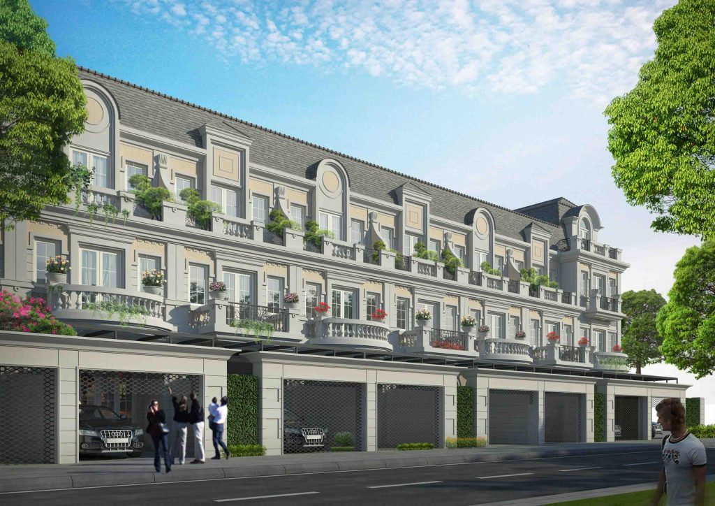 Phối cảnh Shophouse dự án An Lạc Green Symphony khu đô thị Vân Canh