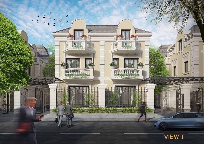 Phối cảnh song lập dự án An Lạc Green Symphony khu đô thị Vân Canh