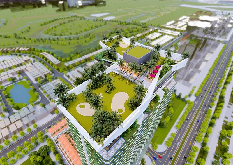 Sân thượng dự án chung cư Sunshine Golden River - Ciputra Tây Hồ
