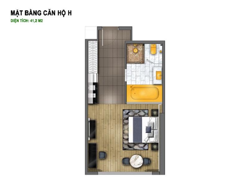 Thiết kế căn H dự án chung cư B7 Giảng Võ - Golden Lake Hòa Bình