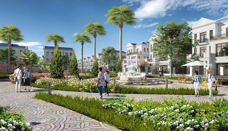 Vườn hoa dự án An Lạc Green Symphony khu đô thị Vân Canh