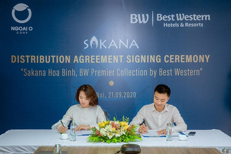 Lễ ký kết vận hành dự án Sakana Resort Hòa Bình của Best Western Premier
