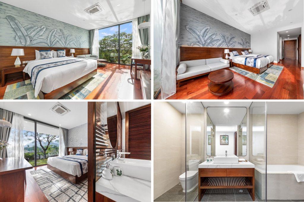 Ảnh thực tế 2 nội thất biệt thự dự án Vedana Cúc Phương Resort Ninh Bình tháng 11/2020