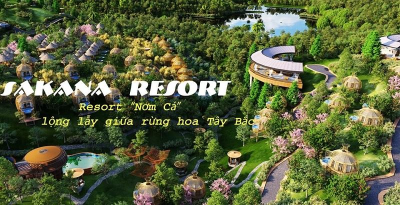 Dự án 1 Biệt thự nghỉ dưỡng Sakana Resort Hòa Bình