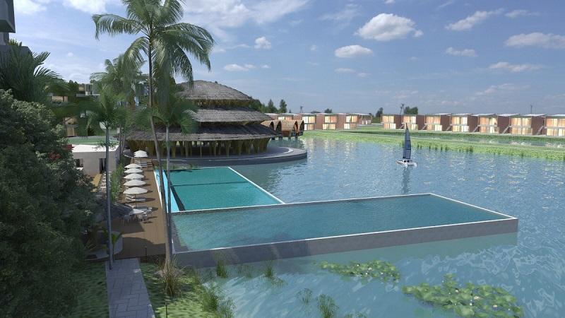 Bể bơi dự án Vedana Cúc Phương Resort - Ninh Bình