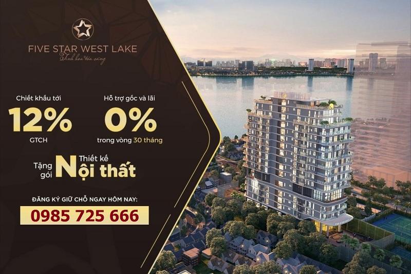 Chính sách ưu đãi khi mua căn hộ Five Star West Lake 167 Hoàng Hoa Thám