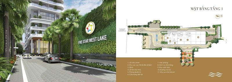 Cổng vào dự án Five Star West Lake 167 Thụy Khuê - 162 Hoàng Hoa Thám