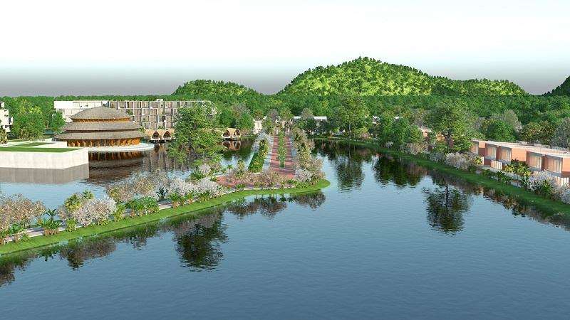 Hồ nước dự án Vedana Cúc Phương Resort - Ninh Bình