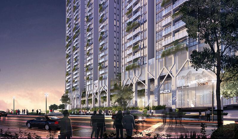 Kiến trúc chung cư Five Star Residence Cầu Giấy
