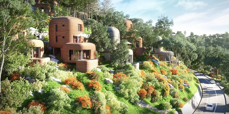 Mẫu biệt thự nhà tổ chim dự án Sakana Resort Hòa Bình