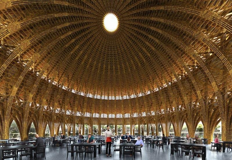 Nhà hàng tre dự án Vedana Cúc Phương Resort - Ninh Bình