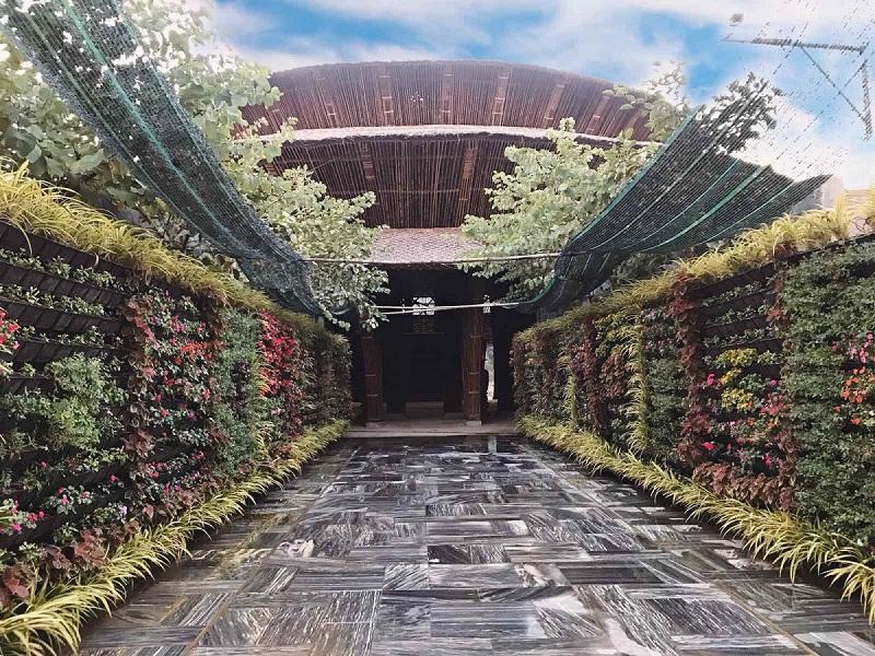 Tiến độ nhà hàng tre dự án Vedana Resort Cúc Phương tháng 4/2020