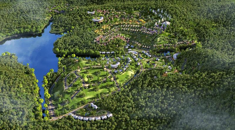 Phối cảnh 1 dự án Biệt thự nghỉ dưỡng Sakana Resort Hòa Bình