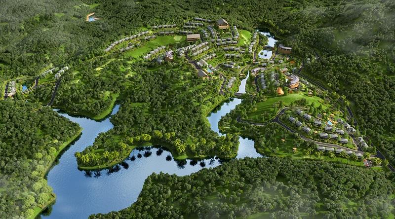 Phối cảnh 2 dự án Biệt thự nghỉ dưỡng Sakana Resort Hòa Bình