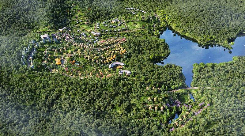 Phối cảnh 3 dự án Biệt thự nghỉ dưỡng Sakana Resort Hòa Bình
