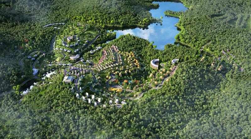 Phối cảnh 5 dự án Biệt thự nghỉ dưỡng Sakana Resort Hòa Bình