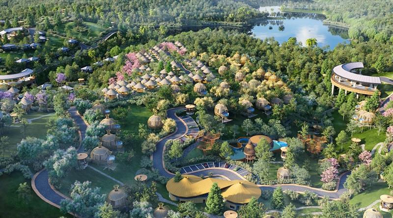 Phối cảnh 6 dự án Biệt thự nghỉ dưỡng Sakana Resort Hòa Bình
