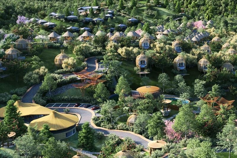 Phối cảnh 9 dự án Biệt thự nghỉ dưỡng Sakana Resort Hòa Bình
