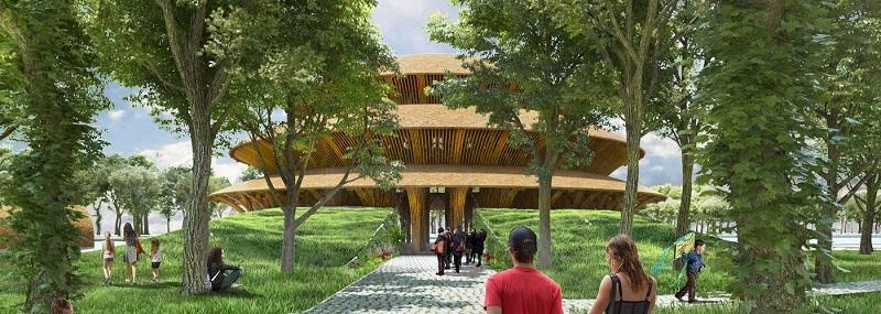 Phối cảnh nhà tre dự án Vedana Cúc Phương Resort - Ninh Bình
