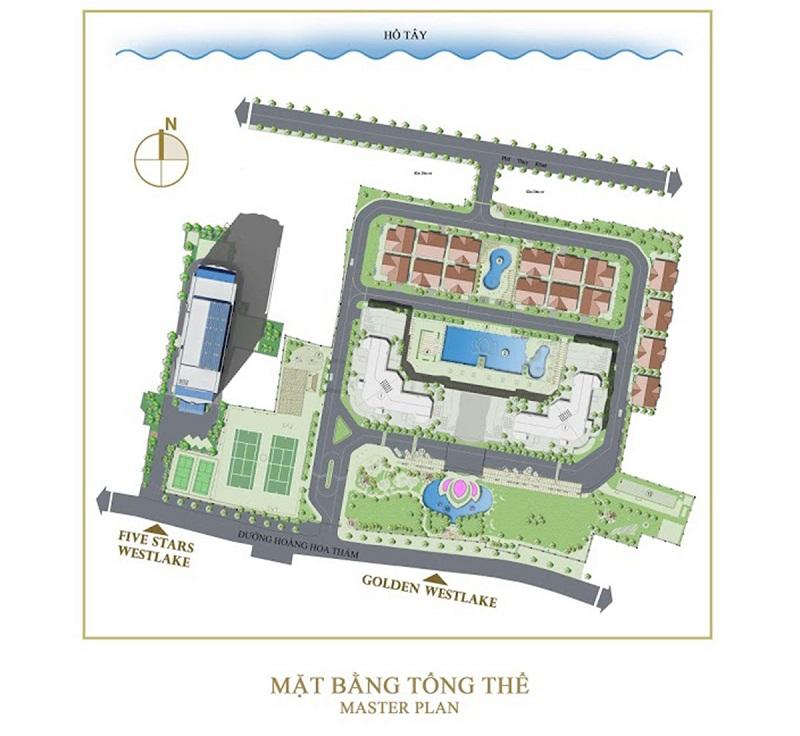 Quy hoạch dự án Five Star West Lake 167 Thụy Khuê - 162 Hoàng Hoa Thám