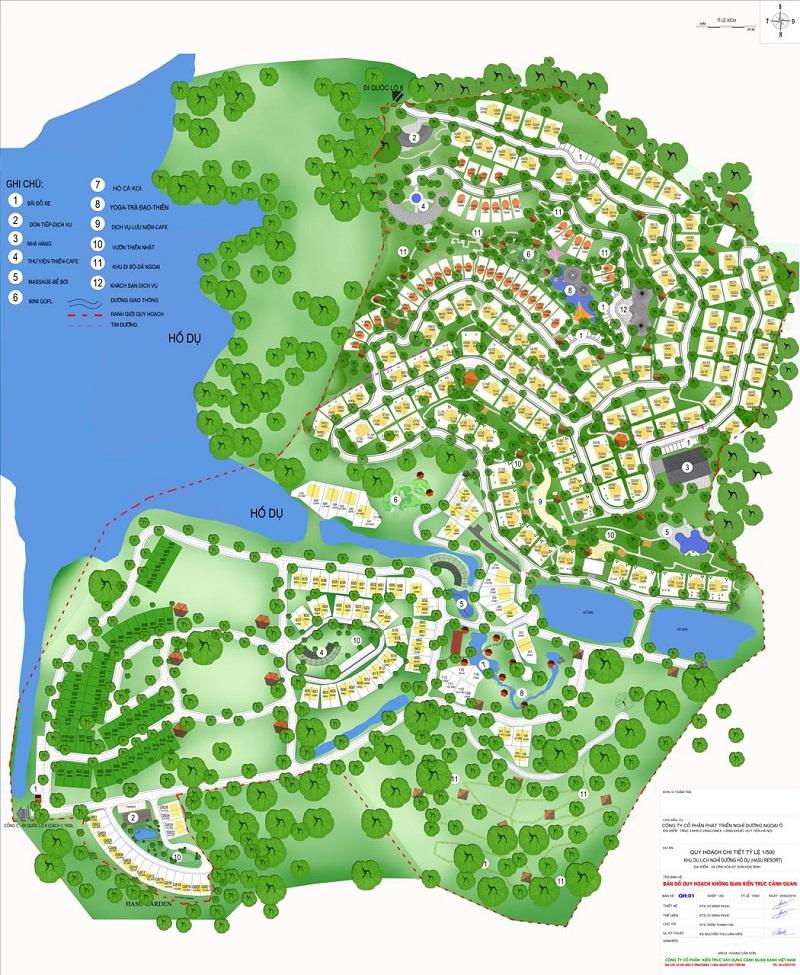 Quy hoạch dự án Biệt thự nghỉ dưỡng Sakana Resort Hòa Bình