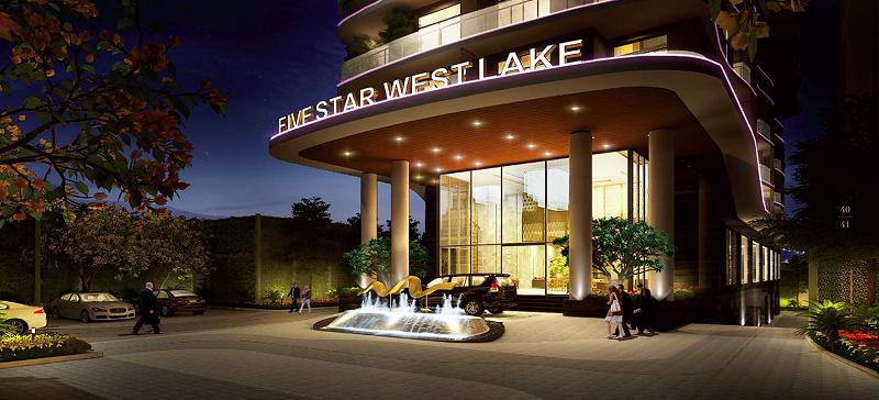 Sảnh vào dự án Five Star West Lake 167 Thụy Khuê - 162 Hoàng Hoa Thám
