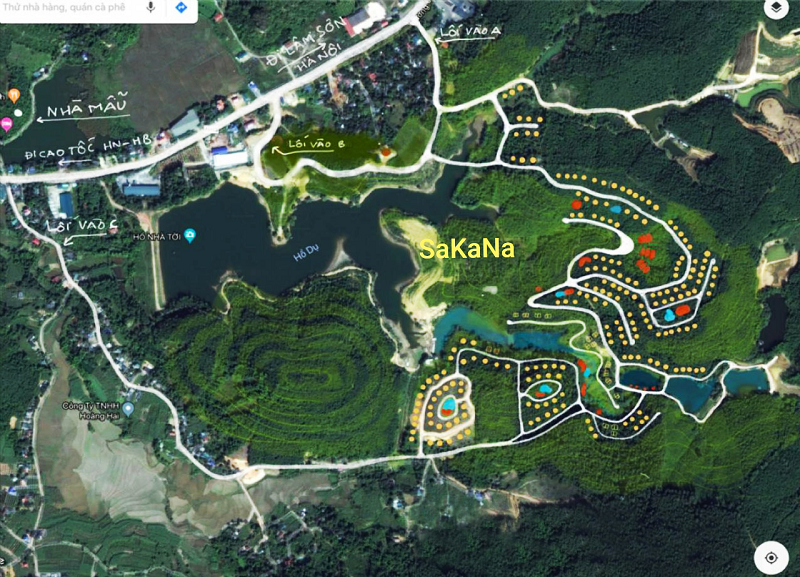 Sơ đồ dự án Biệt thự nghỉ dưỡng Sakana Resort Hòa Bình
