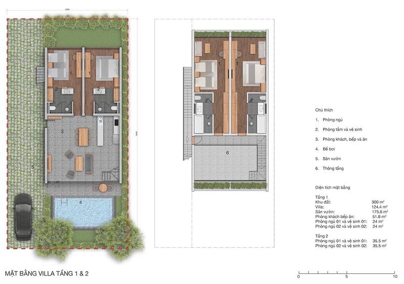 Thiết kế biệt thự Vedana Cúc Phương Resort Ninh Bình