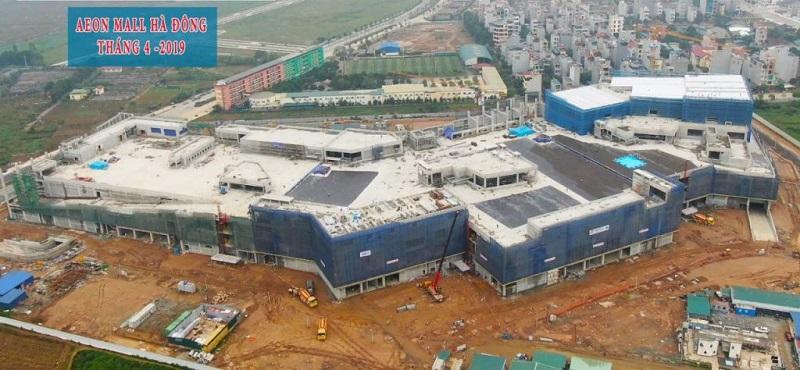 Tiến độ thực tế Aeon Mall cạnh dự án The Terra An Hưng - Hà Đông