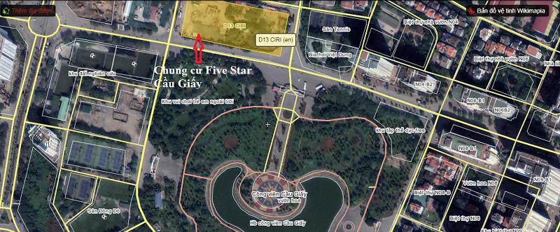Vị trí dự án Five Star Residence Cầu Giấy