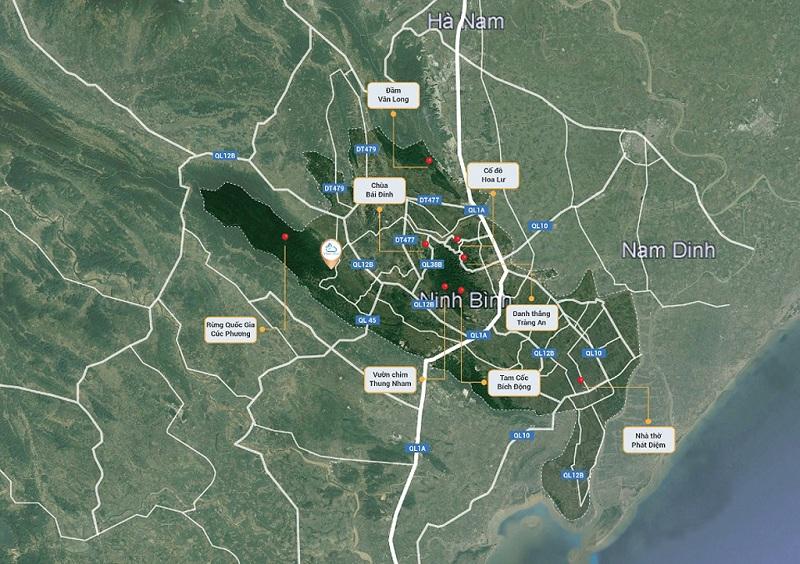 Vị trí dự án Vedana Resort Cúc Phương - Ninh Bình