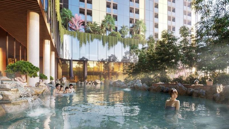 Bể khoáng nóng dự án Condotel Wyndham Thanh Thủy - Phú Thọ