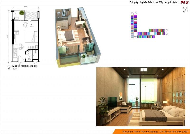 Căn hộ Studio dự án Condotel Wyndham Thanh Thủy - Phú Thọ