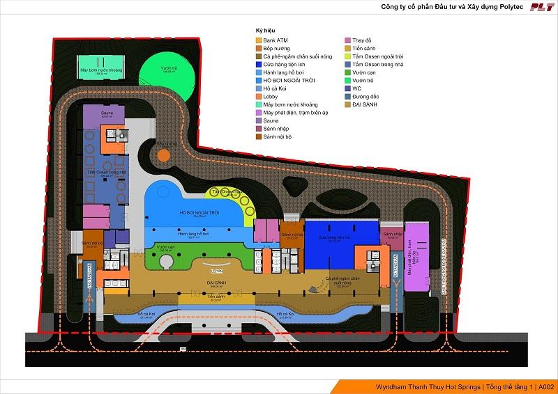 Tiện ích tầng 1 Dự án Condotel Wyndham Thanh Thủy - Phú Thọ