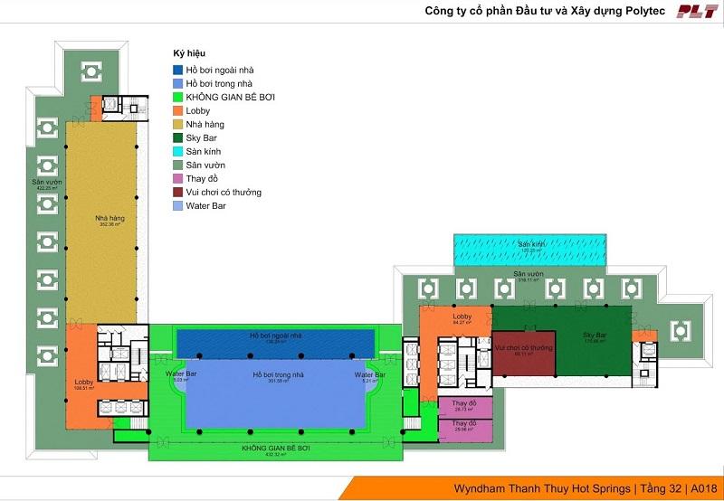 Tiện ích tầng 32 Dự án Condotel Wyndham Thanh Thủy - Phú Thọ
