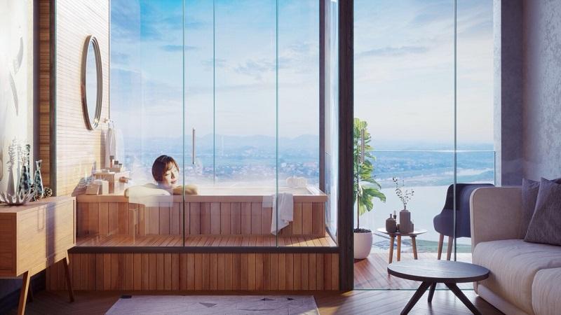View phòng tắm Condotel Wyndham Thanh Thủy - Phú Thọ