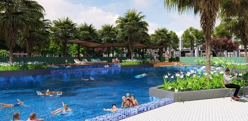 Bể bơi dự án Emerald Bay Hoành Bồ - Hạ Long