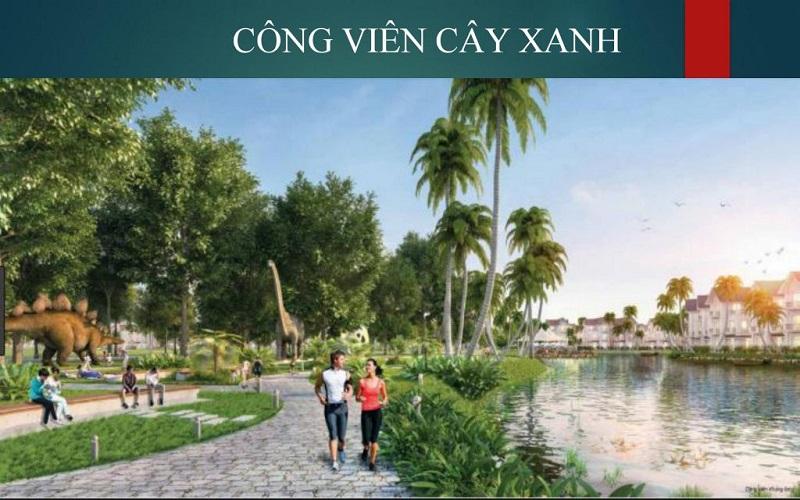 Công viên cây xanh dự án Emerald Bay Hoành Bồ - Hạ Long