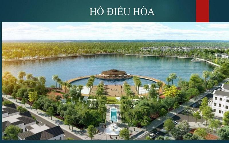Hồ điều hòa dự án Emerald Bay Hoành Bồ - Hạ Long