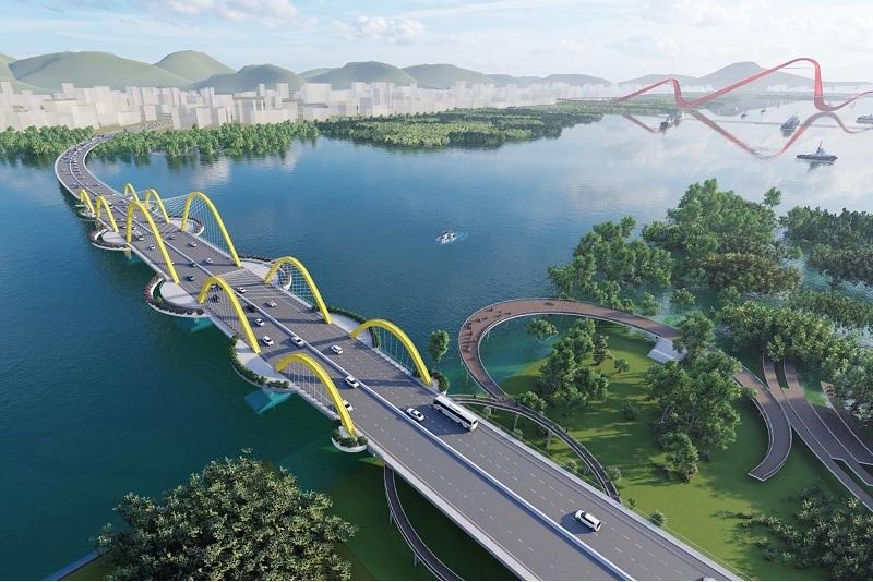 Phối cảnh Cầu Cửa Lục 1 qua dự án Emerald Bay Diễn Loan - Hoành Bồ