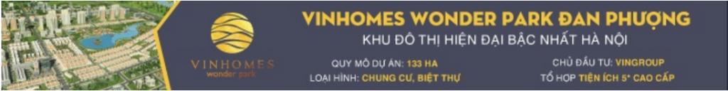 Banner dự án Vinhomes Wonder Park Đan Phượng