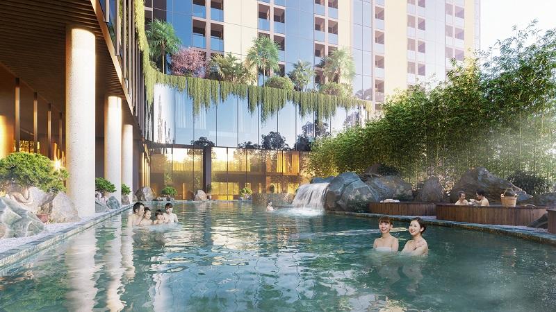 Bể tắm onsen Wyndham Lynn Times Thanh Thủy